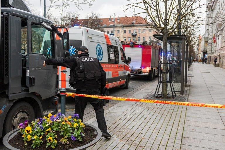 Vilniuje Gedimino pr. 40 įvestas planas skydas (nuotr. Broniaus Jablonsko)