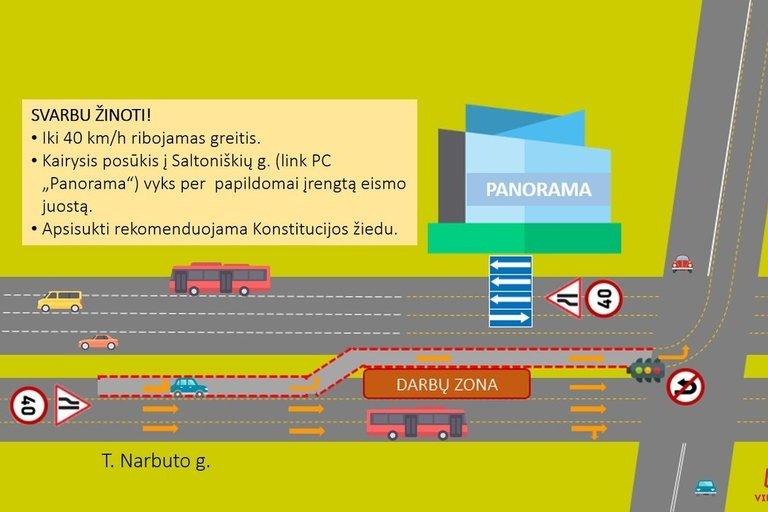 T. Narbuto gatvės eismo schema