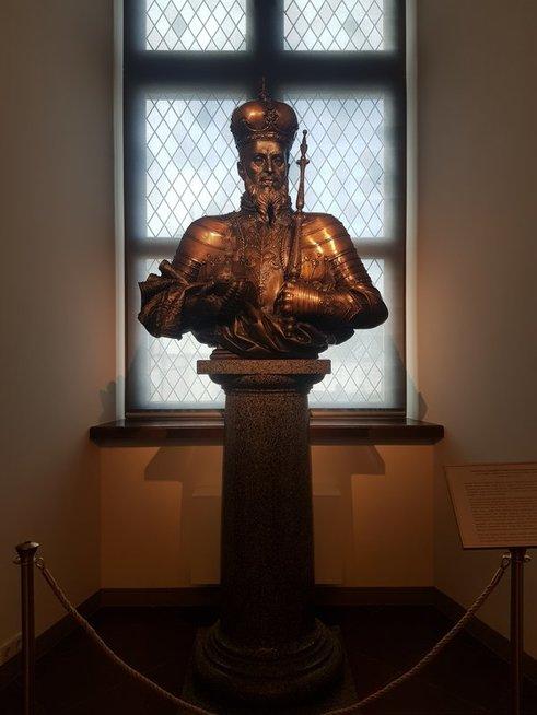 Žygimanto Augusto biustas Valdovų rūmuose