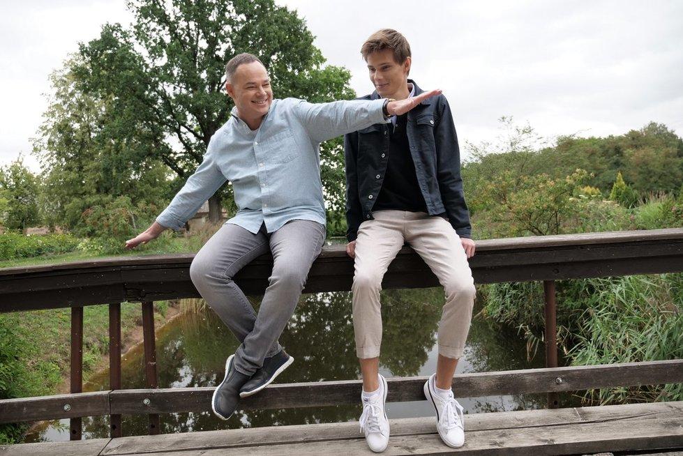 Egidijus Knispelis su savo sūnumi Kristupu  (nuotr. Juozo Skaros)
