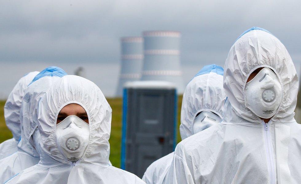 Į Astravo AE atgabentas branduolinis kuras