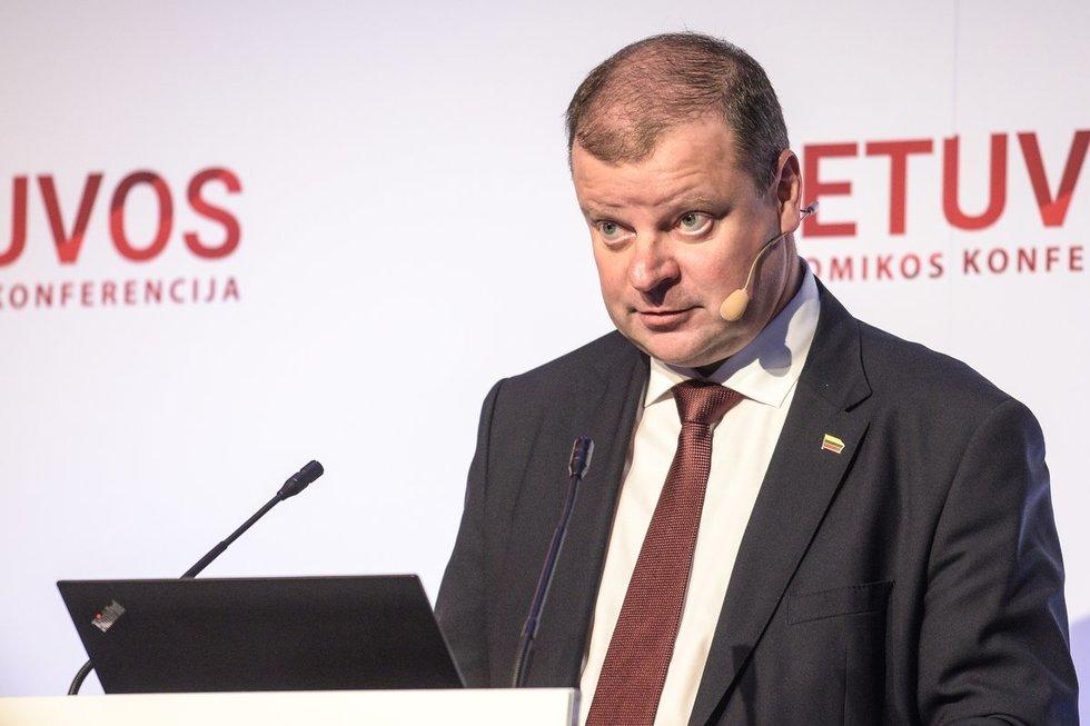 Saulius Skvernelis, Lietuvos ekonomikos konferencija, 2019 (A. Strumila/Fotodiena.lt)