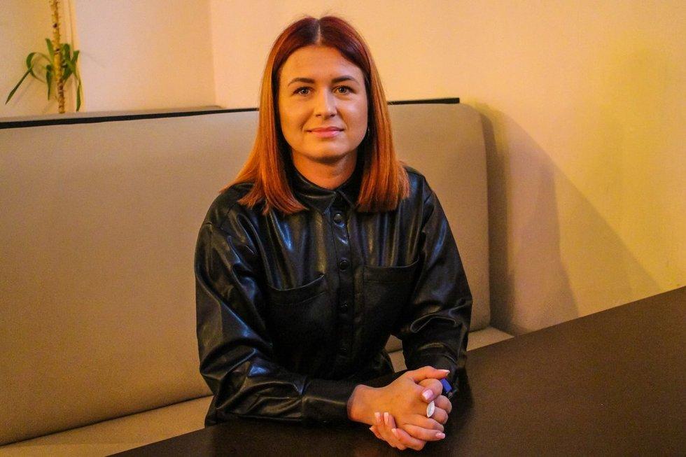 """""""Svetainės"""" savininkė A. Klevinytė (nuotr. Enrikos Gecaitės)"""