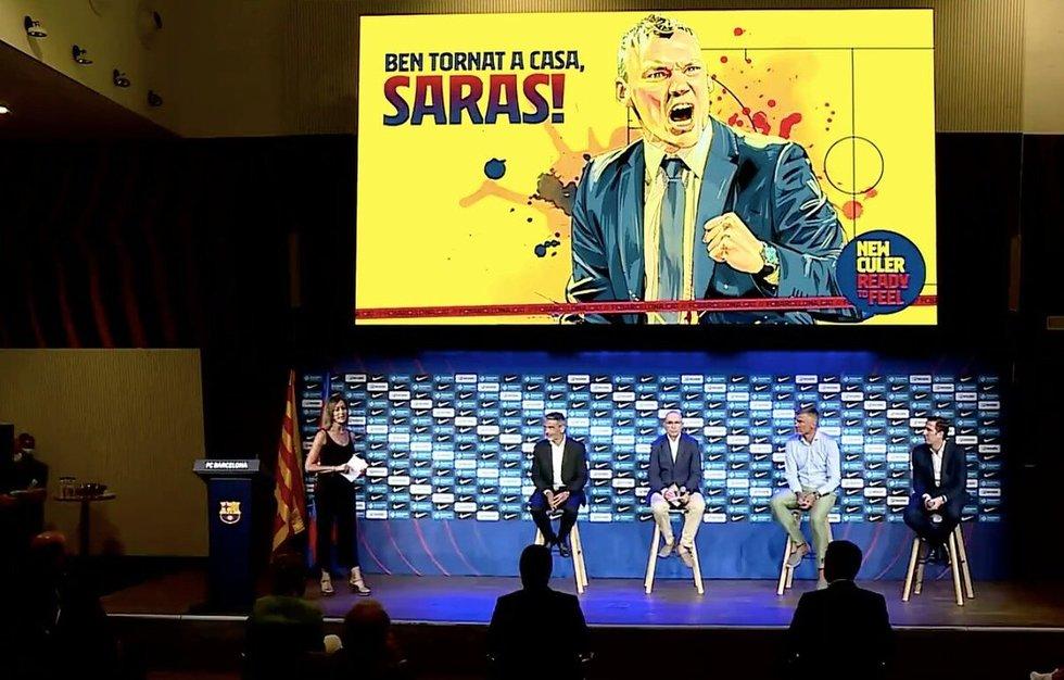 Šarūno Jasikevičiaus pristatymas Barselonoje.