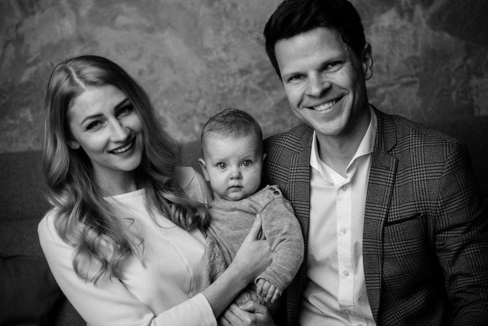 Ieva Vaitiekūnienė su vyru ir dukrele