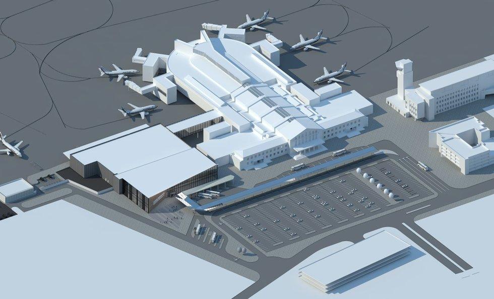 Vilniaus oro uosto vizija  (nuotr. bendrovės)