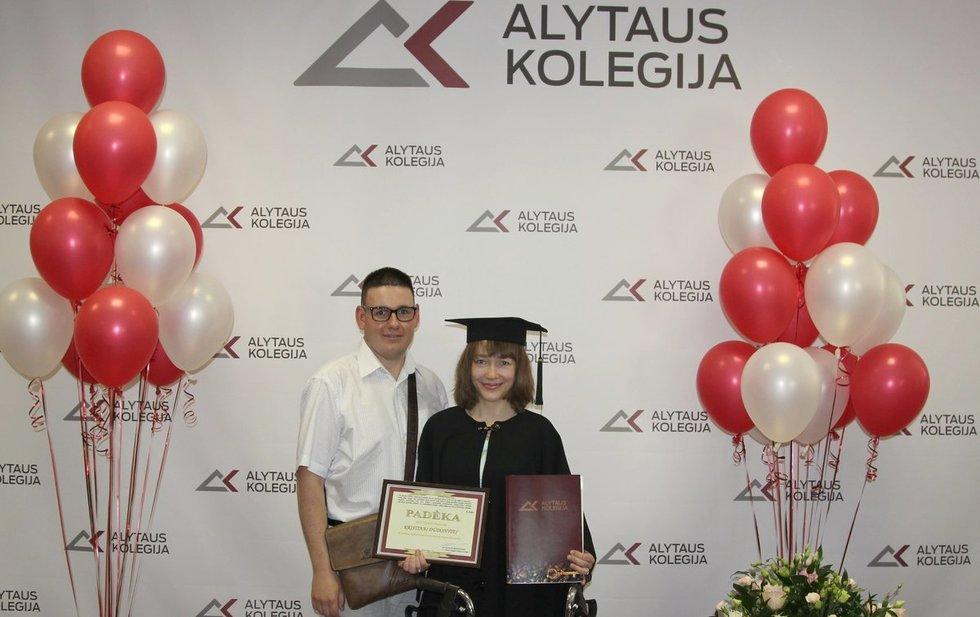 Kristina Dūdonytė Alytaus kolegijoje baigė multimedijos, dizaino ir leidybos technologijų studijas. Asmeninio archyvo nuotr.