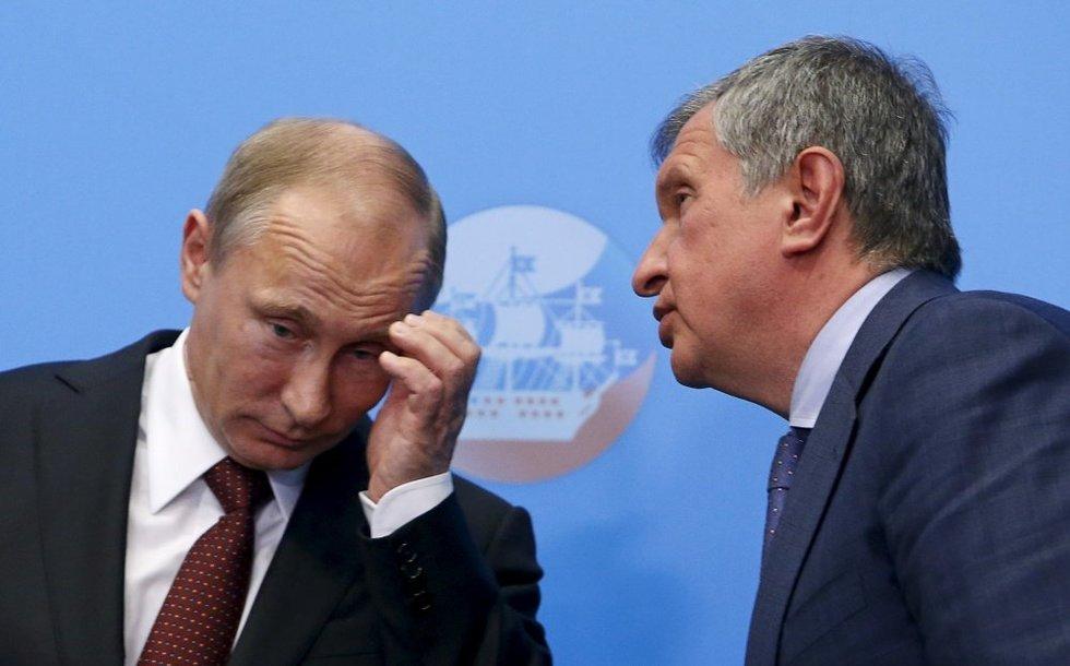 V. Putinas ir I. Sečinas (nuotr. SCANPIX)