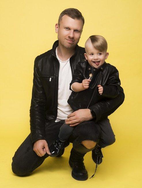Mindaugas Lipnius ir jo sūnus Herkus (Mikita Photography)