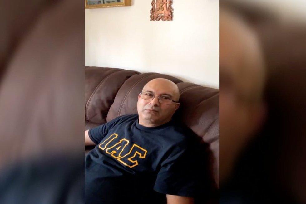 Tėčio reakcija (nuotr. stop kadras)