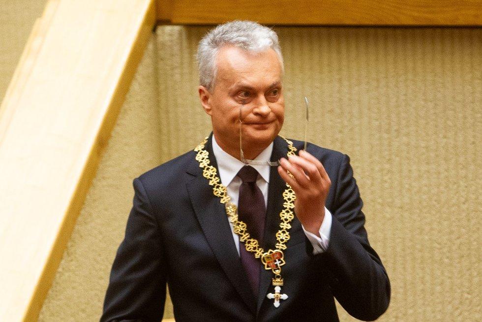 Gitano Nausėdos priesaika Seime (Irmantas Gelūnas/Fotobankas)