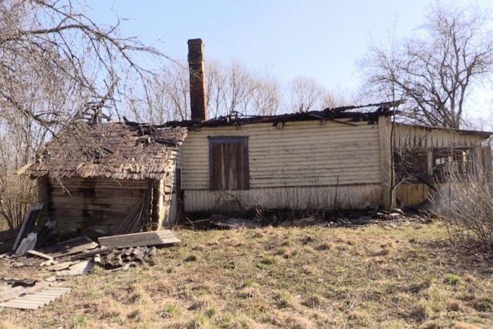 Karantinas netrukdo deginti žolės: išdegė apie 130 ha teritorijų, užsiliepsnojo namas (nuotr. stop kadras)