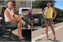 Vedęs keturių vaikų tėvas puošiasi sijonais ir aukštakulniais: priežastis stebina ne vieną