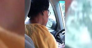Uber vairuotoja (nuotr. stop kadras)