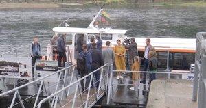 Laivas iš Kauno į Rusnę ir Nidą (nuotr. stop kadras)