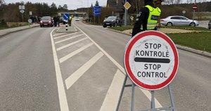 Policijos kontrolė (nuotr. Broniaus Jablonsko)