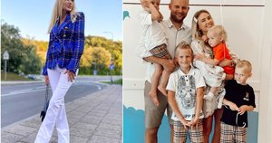 Rasa Stasionienė su šeima (tv3.lt fotomontažas)