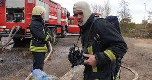 Numalšintas gaisras Alytuje (nuotr. TV3)