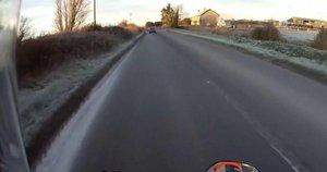 Motociklas (nuotr. stop kadras)