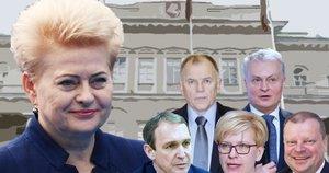 D. Grybauskaitė, A. Juozaitis, I. Šimonytė, S. Skvernelis, V. P. Andriukaitis, G. Nausėda (tv3.lt fotomontažas)