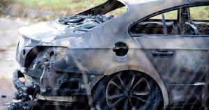 Sudegęs automobilis  Fotodiena.lt/Karolis Kavolėlis