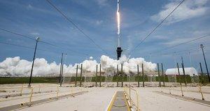 """""""SpaceX""""  erdvėlaivis (nuotr. SCANPIX)"""