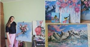 Nepaprasto grožio darbus kurianti Laura svajoja apie savo tapybos studiją (nuotr. asm. archyvo)