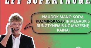 M. Kuzminskas reklamuoja LFF renginį (nuotr. facebook.com)
