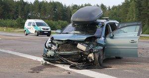 Žiauri avarija Molėtų rajone (nuotr. Bronius Jablonskas)