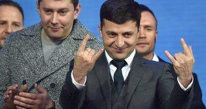 Prezidentiniai debatai Ukrainoje (nuotr. SCANPIX)