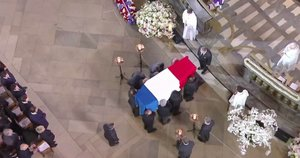 J. Chiraco laidotuvės (nuotr. stop kadras)
