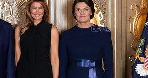 Melania Trump ir Diana Nausėdienė (nuotr. lrp.lt)