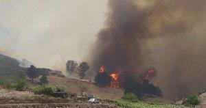 Nevaldomi gaisrai Gran Kanarijoje (nuotr. stop kadras)