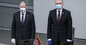 Saulius Skvernelis ir Gitanas Nausėda (Paulius Peleckis/Fotobankas)