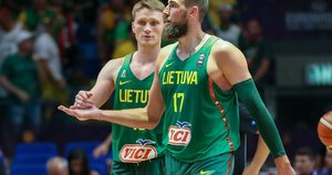 Marius Grigonis ir Jonas Valančiūnas (nuotr. Fotodiena.lt)