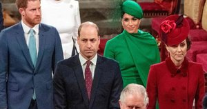 Princas Harry, princas Williamas, Meghan Markle ir Kate Middleton (nuotr. SCANPIX)