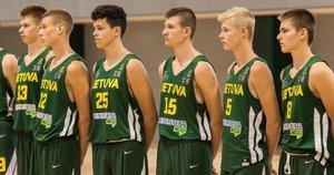 Projekto dalyviai, jaunieji krepšininkai (nuotr. Lino Žemgulio)