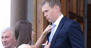 Susituokė krepšininkas M. Kuzminskas ir E. Andreikaitė (nuotr. Tv3.lt/Ruslano Kondratjevo)