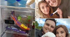 Stacey Lowe vyras užrakino savo šokoladą seife (nuotr. facebook.com)