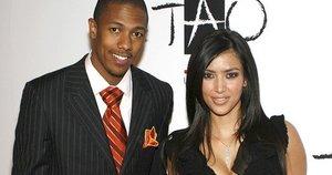 Nick Cannon ir Kim Kardashian (nuotr. Vida Press)