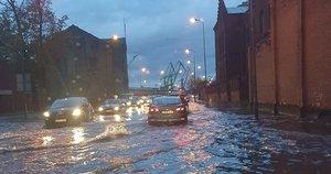 """Patvinusi gatvė Klaipėdoje (nuotr. """"Facebook"""")"""