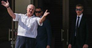Aleksandras ir Nikolajus Lukašenkos (nuotr. SCANPIX)