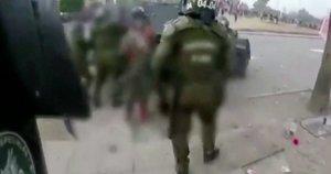 Protestai Čilėje (nuotr. stop kadras)
