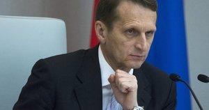 Rusijos užsienio žvalgybos tarnybos direktorius Sergejus Naryškinas (nuotr. SCANPIX)