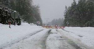Sniegas Austrijoje (nuotr. stop kadras)