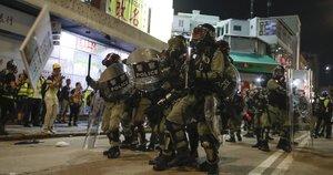 Protesto akcija Honkonge (nuotr. SCANPIX)