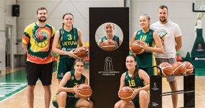 """Krepšininkės dalyvauja virtualiame """"Skills Challenge"""" turnyre. (nuotr. Lino Žemgulio)"""