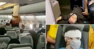 Lėktuve – siaubinga keleivių panika: iki tragedijos buvo likę vos 100 metrų (nuotr. stop kadras)