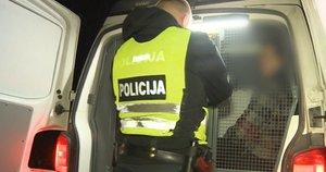 Policijos pareigūnai (nuotr. stop kadras)