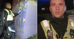 Pareigūnas Vaitkevič sulaikė grafiti piešėją: nufilmavo pačiame proceso įkarštyje